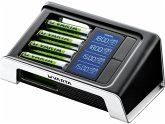 Varta LCD Ultra Fast Charger inkl. 4 Akkus 2100 mAh AA + 12V