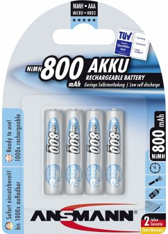 1x4 Ansmann maxE NiMH Akku Micro AAA 800 mAh 5035042