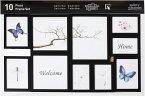 Nielsen 10er Frame Set schwarz Kunststoff Wechselrahmen 8999176