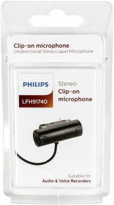 Philips LFH 91740 Anclippbares Stereo Mikrofon (Klinke 3,5mm)