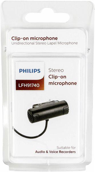 philips lfh 91740 anclippbares stereo mikrofon klinke 3. Black Bedroom Furniture Sets. Home Design Ideas