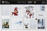 Nielsen 10er Frame Set weiß Kunststoff Wechselrahmen 8999175