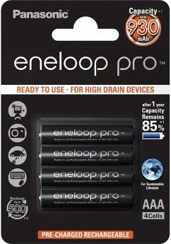 1x4 Panasonic Eneloop Pro Micro AAA 930 mAh