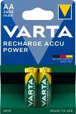 1x2 Varta Rechargeable Accu AA NiMH 2600 mAh Mignon