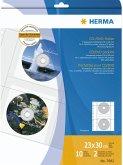 Herma CD-Hüllen f. 2 CDs inkl. Papierhülle 10 Stück 7682