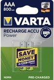 50x2 Varta Rechargeable Accu NiMh 800 mAh Micro VPE Masterk.