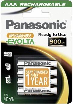 1x4 Panasonic Akku NiMH Micro AAA 900 mAh