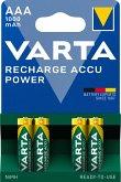 1x4 Varta Rechargeable Accu AAA Ready2Use NiMH 1000 mAh Micro