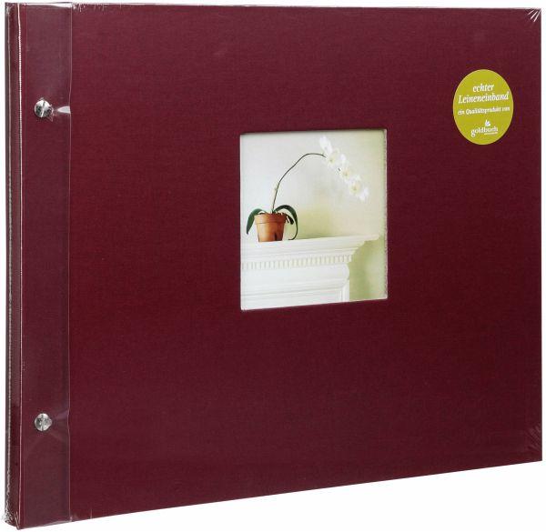 goldbuch bella vista bord 39x31 schraubalbum 40 wei e seiten. Black Bedroom Furniture Sets. Home Design Ideas