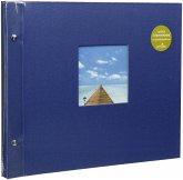 Goldbuch Bella Vista blau 39x31 Schraubalbum 40 weiße Seiten