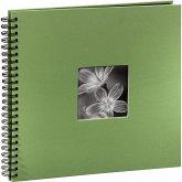 Hama Fine Art Spiral apfelgrün 36x32 50 schwarze Seiten 94870