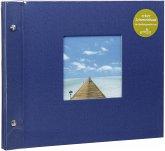 Goldbuch Bella Vista blau 30x25 Schraubalbum 40 schwarze Seiten
