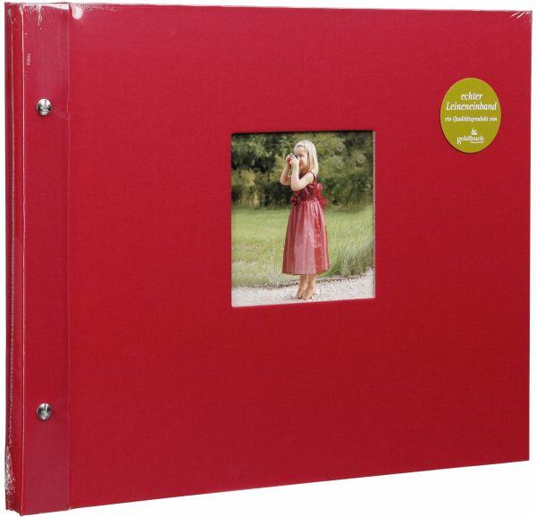 goldbuch bella vista rot 39x31 schraubalbum 40 wei e seiten portofrei bei b. Black Bedroom Furniture Sets. Home Design Ideas