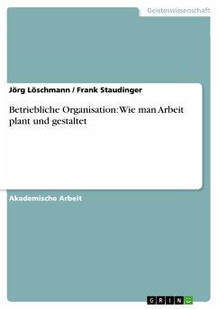 Betriebliche Organisation: Wie man Arbeit plant und gestaltet (eBook, PDF)