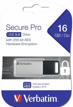 Verbatim 16GB USB Stick3.0 Secure Data Pro