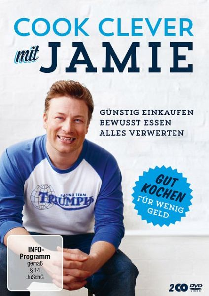 jamie oliver cook clever mit jamie gut kochen f r wenig geld 2 discs film auf dvd. Black Bedroom Furniture Sets. Home Design Ideas