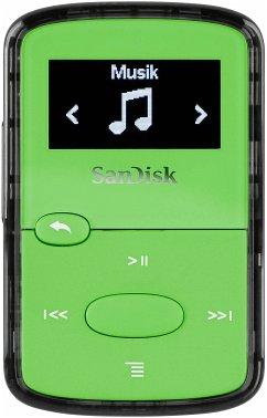 SanDisk Clip JAM 8GB MP3 Player Bright Green SDMX26-008G-G46G