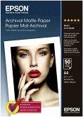 Epson Archival Matte Paper A 4, 50 Blatt, 192 g S 041342