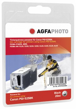 AgfaPhoto PGI-525 BK schwarz with chip