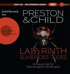 Labyrinth - Elixier des Todes / Pendergast Bd.14 (2 MP3-CDs) - Preston, Douglas; Child, Lincoln