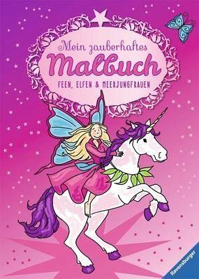 mein zauberhaftes malbuch feen elfen und meerjungfrauen