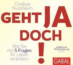 Geht ja doch!, 10 Audio-CDs - Nussbaum, Cordula