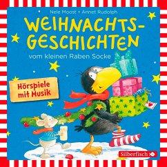 Weihnachtsgeschichten vom kleinen Raben Socke, 1 Audio-CD - Moost, Nele; Rudolph, Annet