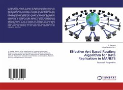 Effective Ant Based Routing Algorithm for Data Replication in MANETS