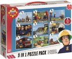Jumbo 17338 - Fireman Sam, 9-in-1 Puzzle Pack, Puzzelsortiment