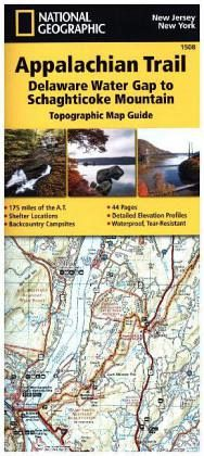 National Geographic Adventure Travel Map Delaware Water Gap to ... on