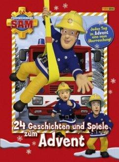 Feuerwehrmann Sam: 24 Geschichten und Spiele zum Advent