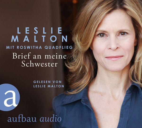 Brief an meine Schwester, 3 Audio-CDs von Leslie Malton
