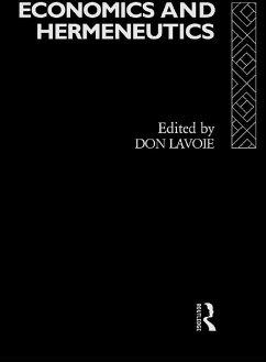 Economics and Hermeneutics (eBook, PDF)