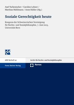 Soziale Gerechtigkeit heute (eBook, PDF)