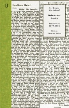 Briefe aus Berlin - Hardekopf, Ferdinand
