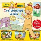 Meine Freundin Conni - Conni übernachtet bei Julia, 1 Audio-CD