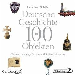 Deutsche Geschichte in 100 Objekten, 17 Audio-CDs - Schäfer, Hermann
