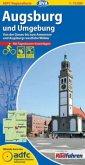 ADFC-Regionalkarte Augsburg und Umgebung mit Tagestouren-Vorschlägen, 1:75.000, reiß- und wetterfest, GPS-Tracks Downloa
