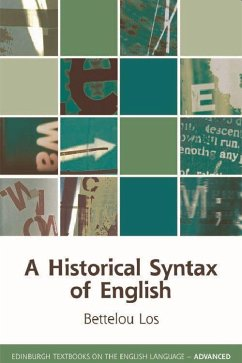 A Historical Syntax of English - Los, Bettelou