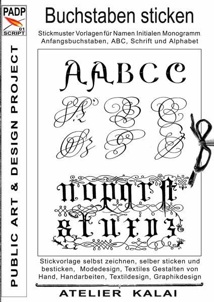 Top PADP-Script 001: Buchstaben sticken portofrei bei bücher.de bestellen KA88