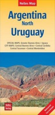 Nelles Map Landkarte Argentina: North, Uruguay