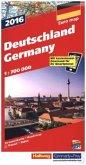 Hallwag Straßenkarte Deutschland 2016; Germany