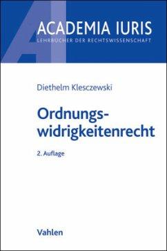 Ordnungswidrigkeitenrecht - Klesczewski, Diethelm