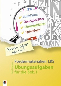 Fördermaterialien LRS - Schipperges, Britta