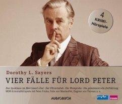 Vier Fälle für Lord Peter, 4 Audio-CDs