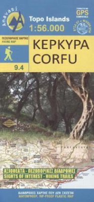 Wanderkarte Corfu
