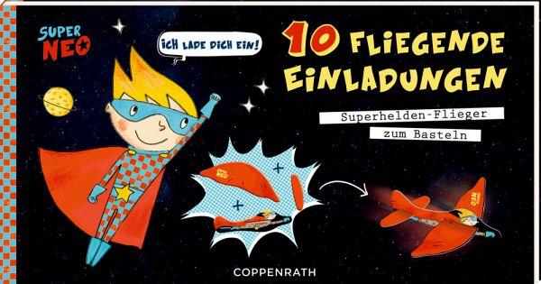 Einladungskarten   Ich Lade Dich Ein! 10 Fliegende Einladungen   Super Neo
