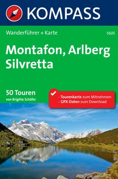 Kompass Wanderführer Montafon, Arlberg, Silvret...
