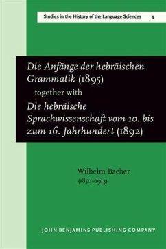 Die Anfange der hebraischen Grammatik (1895), t...