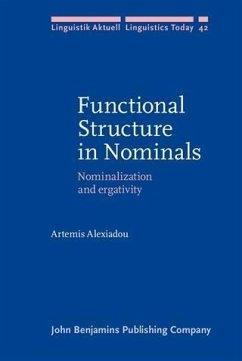 Functional Structure in Nominals (eBook, PDF) - Alexiadou, Artemis